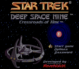 Star Trek - Deep Space Nine - Crossroads of Time (USA) Title Screen
