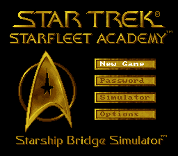 Star Trek - Starfleet Academy (USA) Title Screen