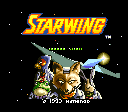 Starwing (Germany) Title Screen