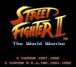 Street Fighter II - The World Warrior (USA) Title Screen