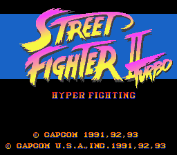Street Fighter II Turbo - Hyper Fighting (USA) Title Screen