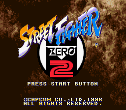 Street Fighter Zero 2 (Japan) Title Screen