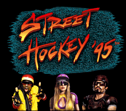 Street Hockey '95 (USA) Title Screen