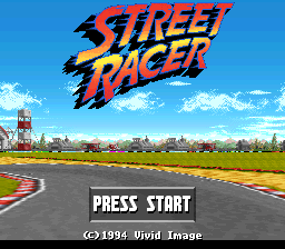 Street Racer (Japan) Title Screen