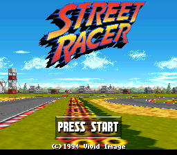 Street Racer (USA) Title Screen