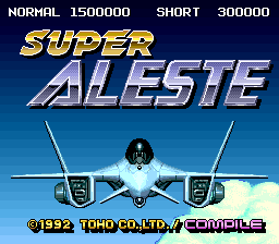 Super Aleste (Japan) Title Screen