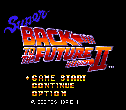 Super Back to the Future Part II (Japan) Title Screen