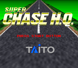 Super Chase H.Q. (USA) Title Screen