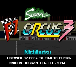 Super F1 Circus 3 (Japan) Title Screen