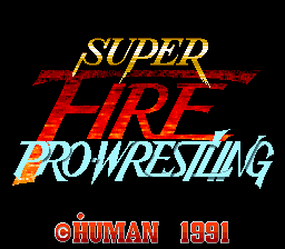 Super Fire Pro Wrestling (Japan) Title Screen