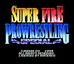 Super Fire Pro Wrestling Special (Japan) Title Screen