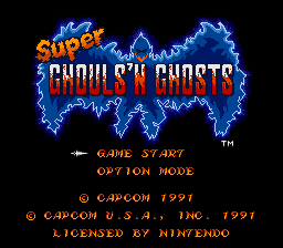 Super Ghouls'n Ghosts (USA) Title Screen