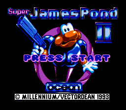 Super James Pond II (Europe) Title Screen