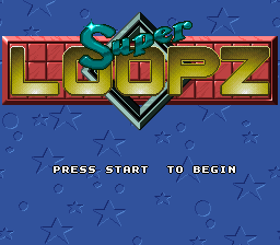 Super Loopz (Japan) Title Screen