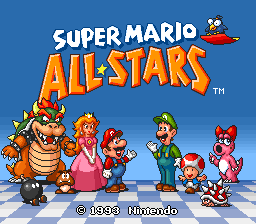 Super Mario All-Stars (USA) Title Screen