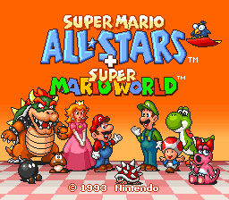 1109b6a7620 Super Mario All-Stars + Super Mario World (USA) ROM   SNES ROMs ...
