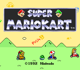 Super Mario Kart (USA) Title Screen