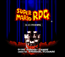 Super Mario RPG (Japan) Title Screen