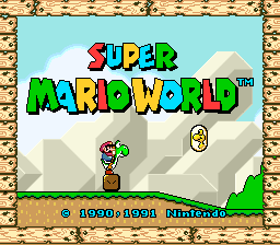 Super Mario World (USA) Title Screen