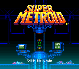 Super Metroid (Europe) (En,Fr,De) Title Screen