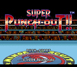 Super Punch-Out!! (Japan) (NP) Title Screen