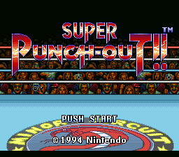 Super Punch-Out!! (USA) Title Screen