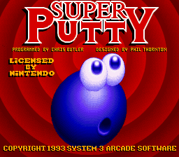 Super Putty (USA) Title Screen