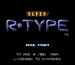 Super R-Type (Europe) Title Screen