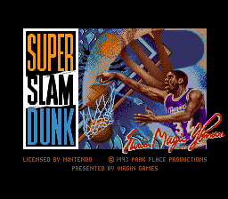 Super Slam Dunk (USA) Title Screen