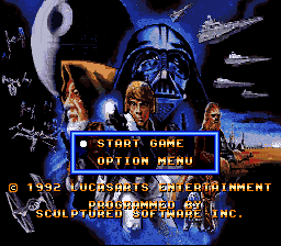 Super Star Wars (Japan) Title Screen