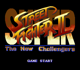 Super Street Fighter II - The New Challengers (Europe) Title Screen