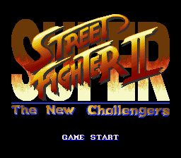 Super Street Fighter II - The New Challengers (Japan) Title Screen