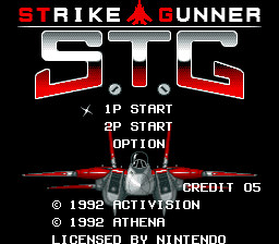 Super Strike Gunner (Europe) Title Screen