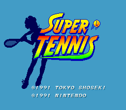 Super Tennis (USA) Title Screen