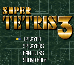 Super Tetris 3 (Japan) Title Screen