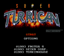 Super Turrican (Japan) Title Screen