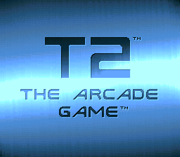 T2 - The Arcade Game (Europe) Title Screen