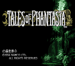 Tales of Phantasia (Japan) Title Screen