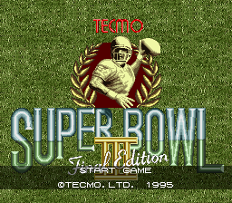 Tecmo Super Bowl III - Final Edition (Japan) Title Screen