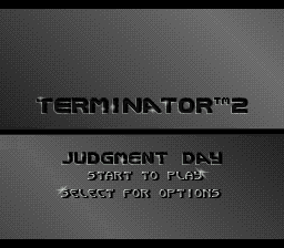 Terminator 2 - Judgment Day (Europe) Title Screen