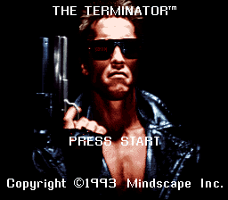 Terminator, The (USA) Title Screen