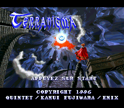 Terranigma (France) Title Screen