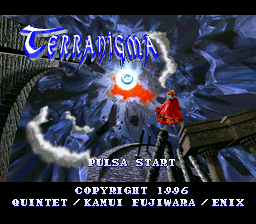 Terranigma (Spain) Title Screen