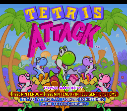 Tetris Attack (Europe) (En,Ja) Title Screen