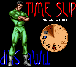 Time Slip (Europe) Title Screen