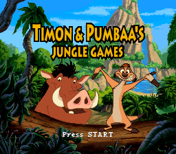 Timon & Pumbaa's Jungle Games (Europe) Title Screen