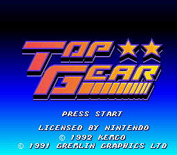 Top Gear (USA) Title Screen