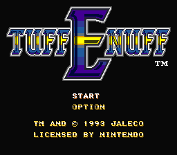 Tuff E Nuff (Europe) Title Screen