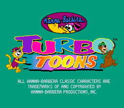 Turbo Toons (Europe) Title Screen