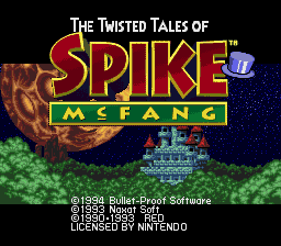 Twisted Tales of Spike McFang, The (USA) Title Screen
